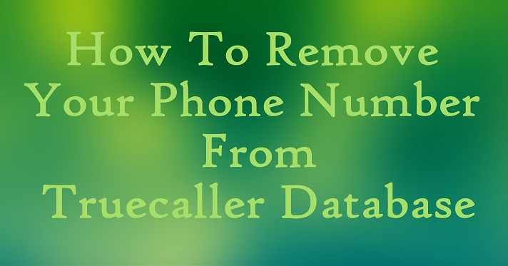 remove my number from truecaller
