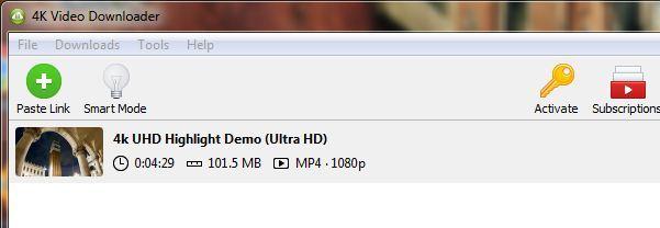 4k downloader paste link