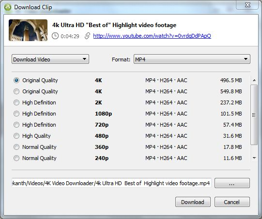 download 4k uhd 2160p videos from youtube