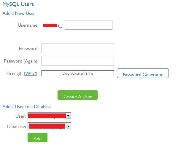 add new user to new database