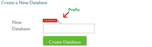 create a new database cpanel