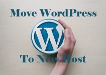 move wordpress blog to new host manually